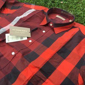 Burberry London Casual Shirt Men's %95 cotton